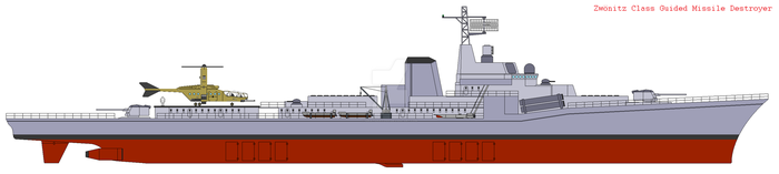 Zwonitz Class Guided Missile Destroyer (Type 34) by IgnatiusAxonn