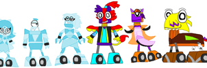 Mixels: 50FW: Diamond Divas and Royal Gang by Luqmandeviantart2000