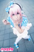 Cute Super Sonico Cosplay by K-I-M-I