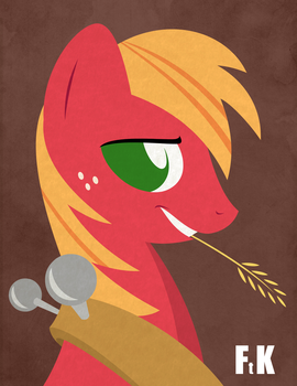 Big Macintosh Portraiture by FluttershytheKind