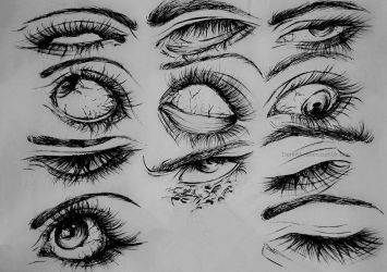 eyes and expression by DoreiShounen