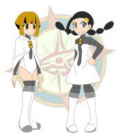 Galactic Commanders Candice and Gardenia by Dragon-FangX