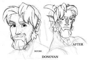 Donovan Animated, Before+After by RedBladeStudios