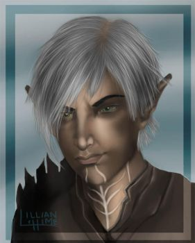 Fenris Sexy Smirk COLORED by Lillian-hime