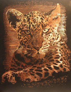 Leopard Etching by luhka