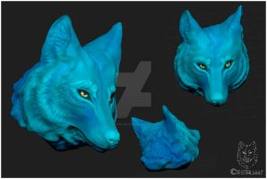 3D Wolf by Cristalwolf