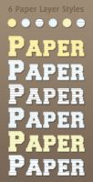 6 Free Paper Layer Styles by Textuts