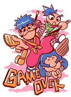 Mystical Ninja Starring the Game Over Screen by jmatchead