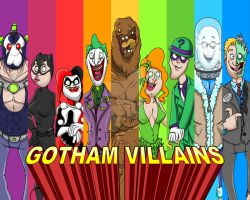 Gotham Villains by cgianelloni