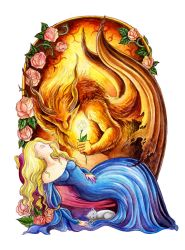 Sleeping beauty and the Beast by TrollGirl