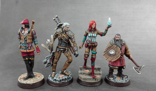 Witcher Miniatures - front by Cezarreo