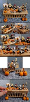 1:12 Halloween Table Details by PepperTreeArt