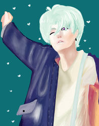 My attempt to Suga(Bts) by Anghelorodriguez