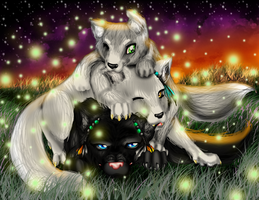 WOLF PILE by MagickDream