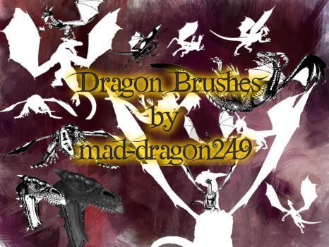 Gimp dragon brushes by mad-dragon249