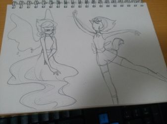 Lapiz Lazuli and Pearl Doodle by chichicherry123
