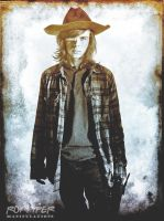 TWD: Carl Grimes: HDR Grunge Edit by nerdboy69