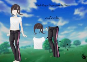 CDM PACK ROPA DEPORTE DE NINA BY -CuteCDM- by CuteCDM