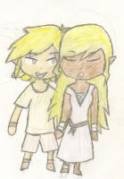 Link and Tetra by Linkerbell