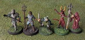 My Dungeons and Dragons Party (in Miniature) by Pasiphilo