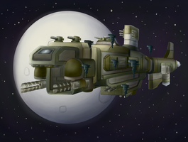 Coalition War Galleon XF23 Leviathan by ChromeFlames