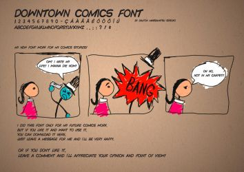 Downtown Comics font work by massamitsu