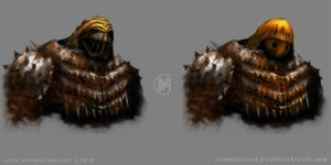Helm and armour concepts by Colin-Ashcroft