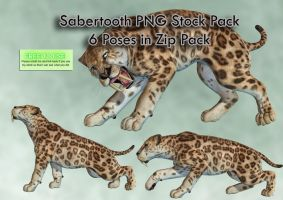 Sabertooth PNG Stock Pack by Roy3D