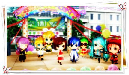 Chibi Vocaloids Fun by Necessity4fun