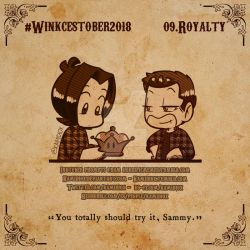 Winkcestober 2018 day 09: Royalty by KamiDiox