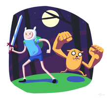 Finn-and-Jake by Littl3Tyke