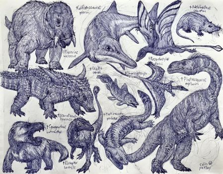 Triassic Animals by MickeyRayRex