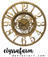 PNG (23) STEAMPUNK CLOCK by elyssafawn