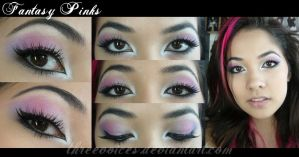 Makeup - Fantasy Pinks by threevoices