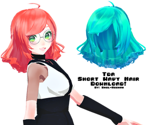 [MMD DL] Tda Short Wavy Hair by Smol-Hooman
