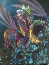 The dragon of thousand colors by Keto-Pagano