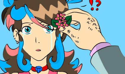 lupin put a flower on my hair by gadgetgirl101