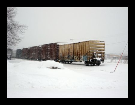 Blizzard at the Rail Yard by azieser