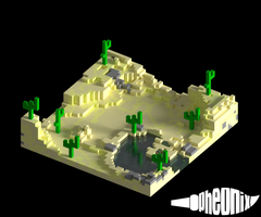 Tiny Desert [Voxel Art] by WFpeonix