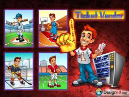 Ticket Vendor by designfxpro
