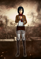 Mikasa Ackerman XPS download by Chaotixninjax