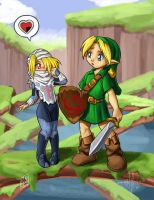 LoZ: Link and Shiek by Pinkuh