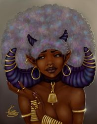 Fro Horns Gold by KiraTheArtist