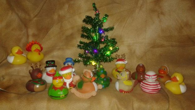 Christmas themed Rubber Duckie Collection by professoroak