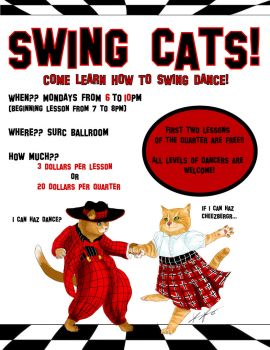 Swing Cats Club Poster by Kelsee-F