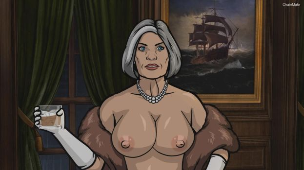 Archer - Malory topless by 2ndChainMale