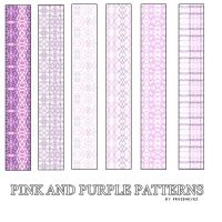 Pink And Purple PS Patterns by AlenaJay