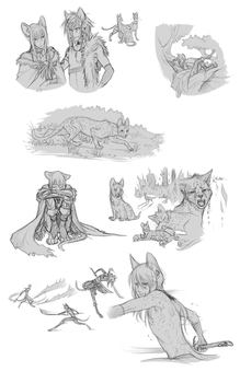 Forests of Eden doodles by Majime