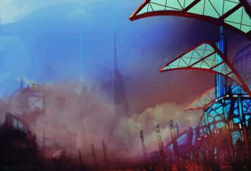 Grand Sandstorm on Planet Ahoah by LoonyFred