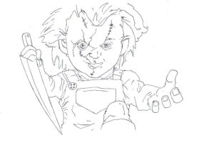 Chucky, child's play (halloween drawing) by electronicdave